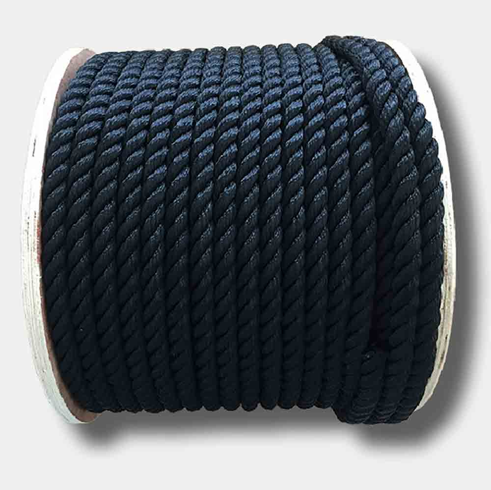 3 Strand Polyester Rope White 16mm Up to 100 Meters
