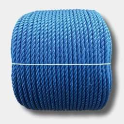 6/mm verschiedene Gr/ö/ßen wei/ß // schwarz // gr/ün // blau // rot // gelb 50 m blau Polypropylen-Seil