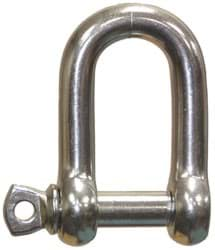 Picture of Shackle | stainless steel | breaking load 4100kp | D-type with screw collar pin