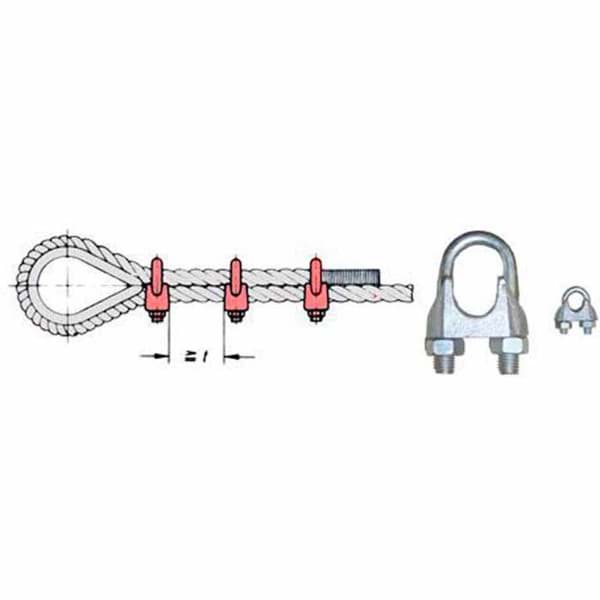 Picture of Wire rope clip | galvanized | 3/4"