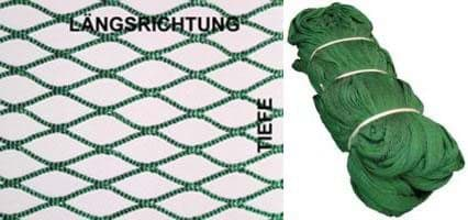 Picture of Nylon-Netting | 10mm mesh size | knotless | 960# depth (12,8m) | green