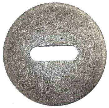 Picture of Steel washer 150 mm diameter x 10 mm thick x with slit 21 x 61 mm  for chain 16 mm