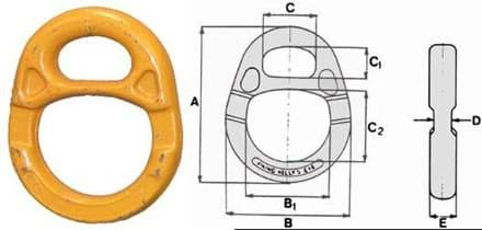 Picture of Viking-Kelly's eye / -recessed link, 20 t swl, No. 20, yellow varn. (fitting to Viking-G-kook No.20)
