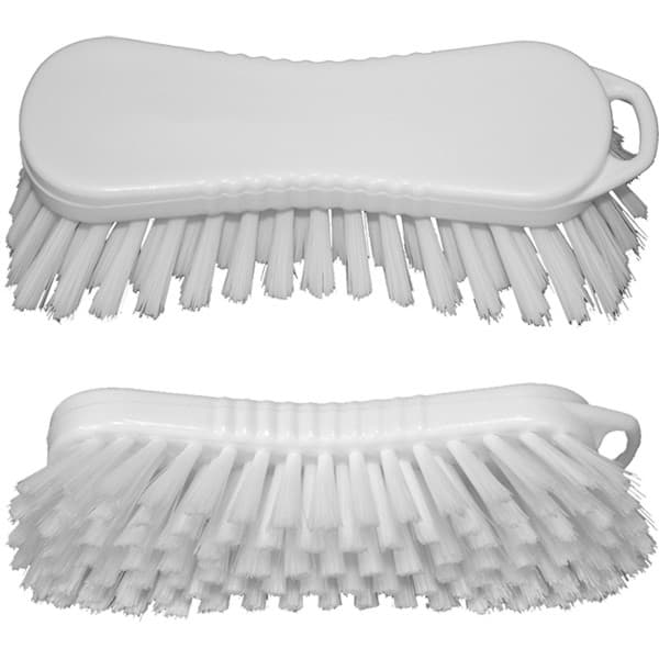 Photo de Brosse à main 21cm x 7cm | soies mi-dures | blanc