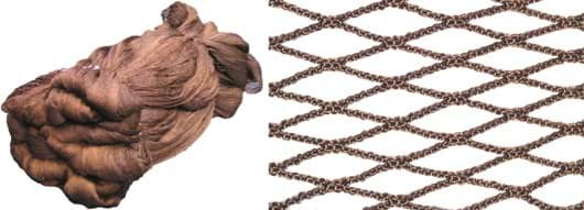 Picture of Polyester netting | 15mm mesh size (HM) | twine No. 250/18 (0,85mm ø) | knotless | brown