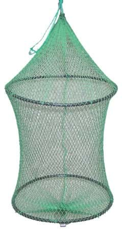Picture of Pen, round shaped, made of knotless nylon netting, 15 mm mesh size half mesh, twine No. 210/18