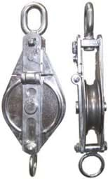 Picture of Stainless steel snatch block, 1,4 t swl, 36 cm total length, for max. 18 mm dia. rope,