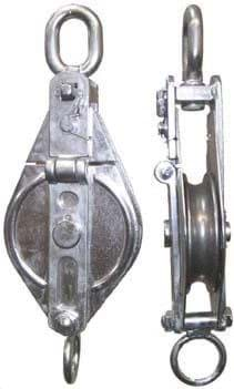 Picture of Stainless steel snatch block, 1,2 t swl, 31 cm total length, for max. 16 mm dia. rope,