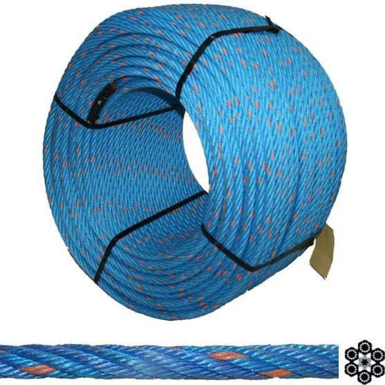 Picture of Combination Wire Rope Herkules (PP) | 12mm diameter | stainless steel core | 6-strands | 220m