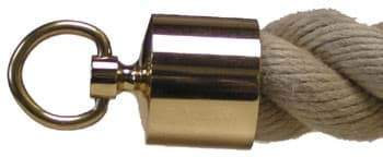 Picture of Brass end piece with ring for Hempex- rope 36 mm diameter