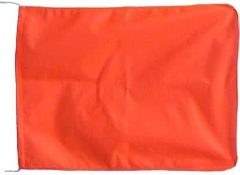 Photo de Drapeau de signalisation | 35 x 50cm | orange