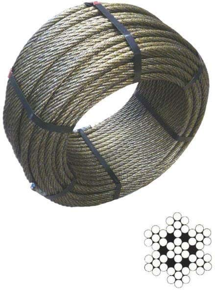 Picture of Steel wire rope (trawl warp), 14 mm diameter,  construction 6x7+WST (steel core), 150 m coil