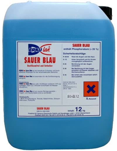 Picture of Sauer Blau | vessel and deck cleaning agent | highly concentrated | 12kg