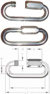 Picture of Quicklink | 6 mm | galvanized | 0,2 t WLL | large opening