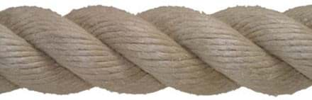 Picture of Hempex (PP)-rope, 36 mm diameter, 3-strand, natural appearance in structure and colour (beige)