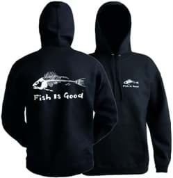 "Bild von Grundens Kapuzenpullover ""Fish is good"""